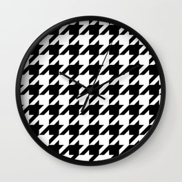 Classic Houndstooth Pattern Wall Clock