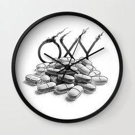 Pill Addiction. Oxycodone. Wall Clock