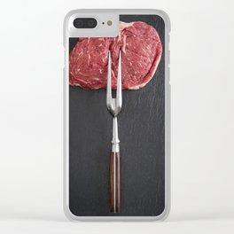 Rib eye steak Clear iPhone Case
