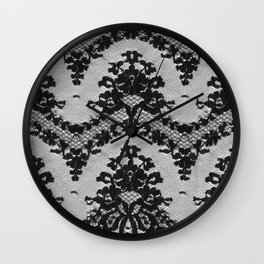 Black Vintage Lace Wall Clock
