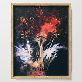 Seattle Space Needle Celebration Serving Tray