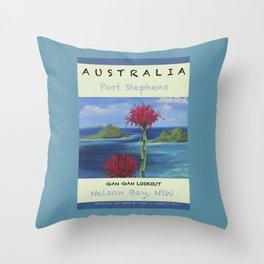 Art Travel Poster Gan Gan Throw Pillow