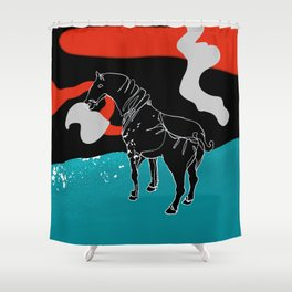 I am not your white horse Shower Curtain