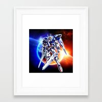 gundam Framed Art Prints featuring Gundam Wing by bimorecreative