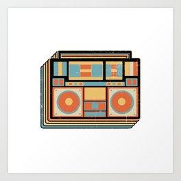 Boombox Vintage GhettoBlaster Stereo Art Print