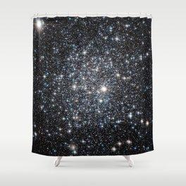 Stars : subtle black blue gold Shower Curtain