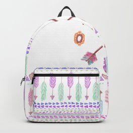 Boho Typogrpahy Tribal Aztec Feather Arrow Pattern Backpack