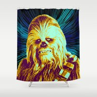 chewbacca Shower Curtains featuring Chewbacca by victorygarlic