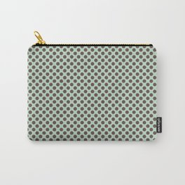 Pale Green And Brown Polka Dots Carry-All Pouch