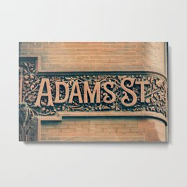 Adams St The Loop Chicago City Center Downtown Building Street Sign Metal Print