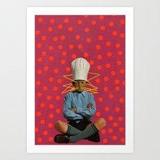 Big Little Chef Art Print
