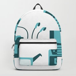 I Love the 80s in Blue - Sneakers Retro Walkman Sunglasses Video Game Controller Backpack