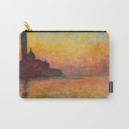 Claude Monet – Saint georges majeur au crépuscule San Giorgio Maggiore by Twilight Carry-All Pouch