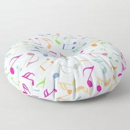 Music Colorful Notes Floor Pillow