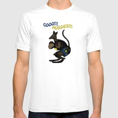 Gooo!!! Aussies!!! Mens Fitted Tee White SMALL