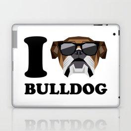 I Love Bulldog modern v1 Laptop & iPad Skin