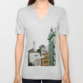 View of the Coit Tower Unisex V-Neck
