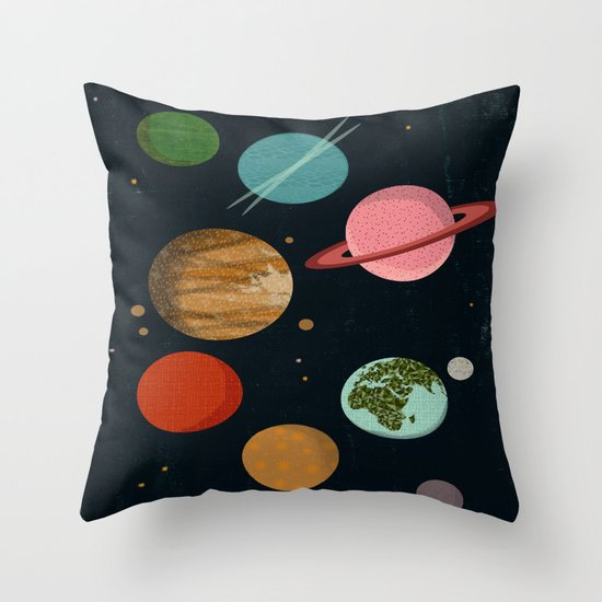The Planets  Throw Pillow