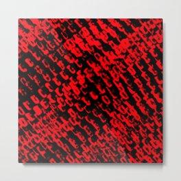 Red sublime metal pattern Metal Print