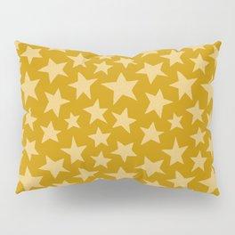 Mustard Doodle Stars Pillow Sham