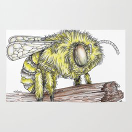 The Fluffy Bee Rug