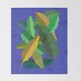Bunch of Banana Leaves Throw Blanket