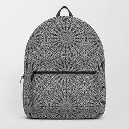 Black and White Dreamcatcher Mandala Tile Pattern Backpack