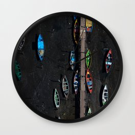 Colors of a low tide Wall Clock