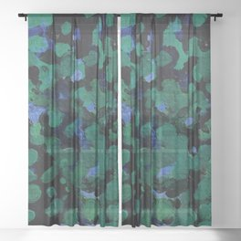 Lily Pond Painting Sheer Curtain