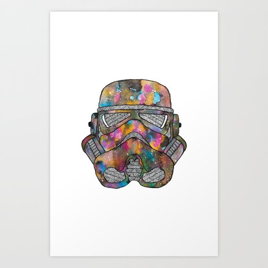 Stormtrooper Galaxy Art Print