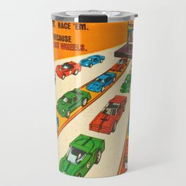 1970 American Issue Vintage Hot Wheels Redline Factory Poster Travel Mug