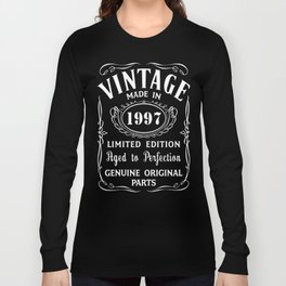 20th-Birthday-Gift-Idea-T-Shirt-Vintage-Made-In-1997 Long Sleeve T-shirt