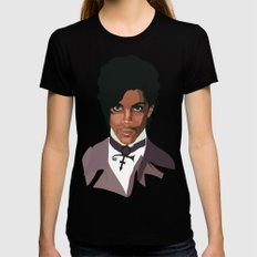 Prince with Symbol Black MEDIUM Womens Fitted Tee