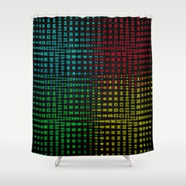 Fossil Wave Shower Curtain