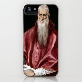 El Greco Saint Jerome as Scholar iPhone Case