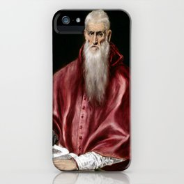 El Greco Saint Jerome as Scholar iPhone Case