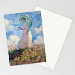 Monet - Woman with a Parasol Stationery Cards