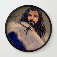 thorin Wall Clocks featuring Thorin and Minty by Yreen Doreyn Cameron