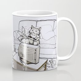 Up Up Down Down Left Right Left Right B A Start -- Greyscale Coffee Mug