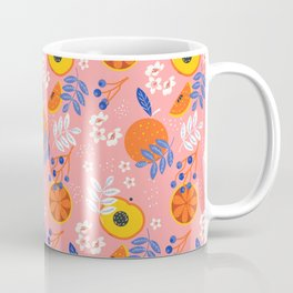 PEACH AND ORANGE PATTERN Coffee Mug