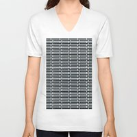 subway V-neck T-shirts featuring Subway Tiles by John D'Amelio