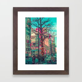 TOKYO CITY TREE Framed Art Print