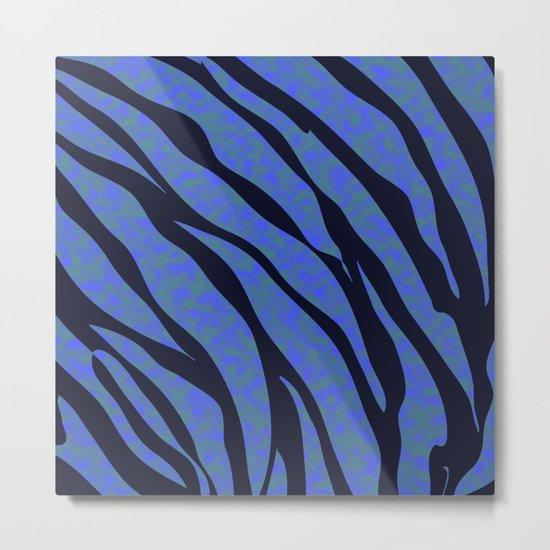Blue ocean zebra  Metal Print