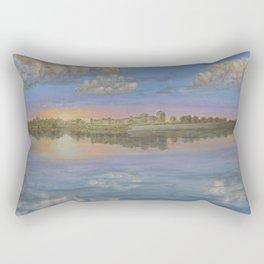 Golden sunset Rectangular Pillow
