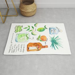 Classic Margarita Cocktail Recipe Rug
