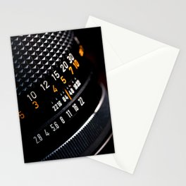 Photography Lens Detail Stationery Cards