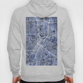 Houston Texas City Street Map Hoody