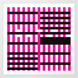Licorice Bytes, No.19 in Black and Pink Art Print