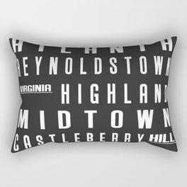 Atlanta City Subway Sign Urban Art CS07 Rectangular Pillow