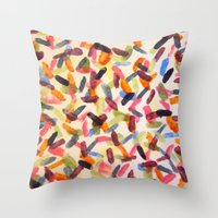 sprinkles Throw Pillows featuring Sprinkles by Rachel Butler